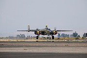 North American B-25 Mitchell taxiing at Airshow of the Cascades, Erickson Aircraft Collection.