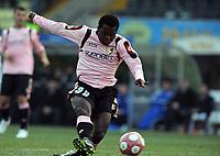 """gol 1-1 di Fabio SIMPLICIO Palermo.<br /> Udine, 14/03/2010 Stadio """"Friuli""""<br /> Udinese-Palermo.<br /> Campionato Italiano Serie A 2009/2010<br /> Foto Nicolo' Zangirolami Insidefoto"""