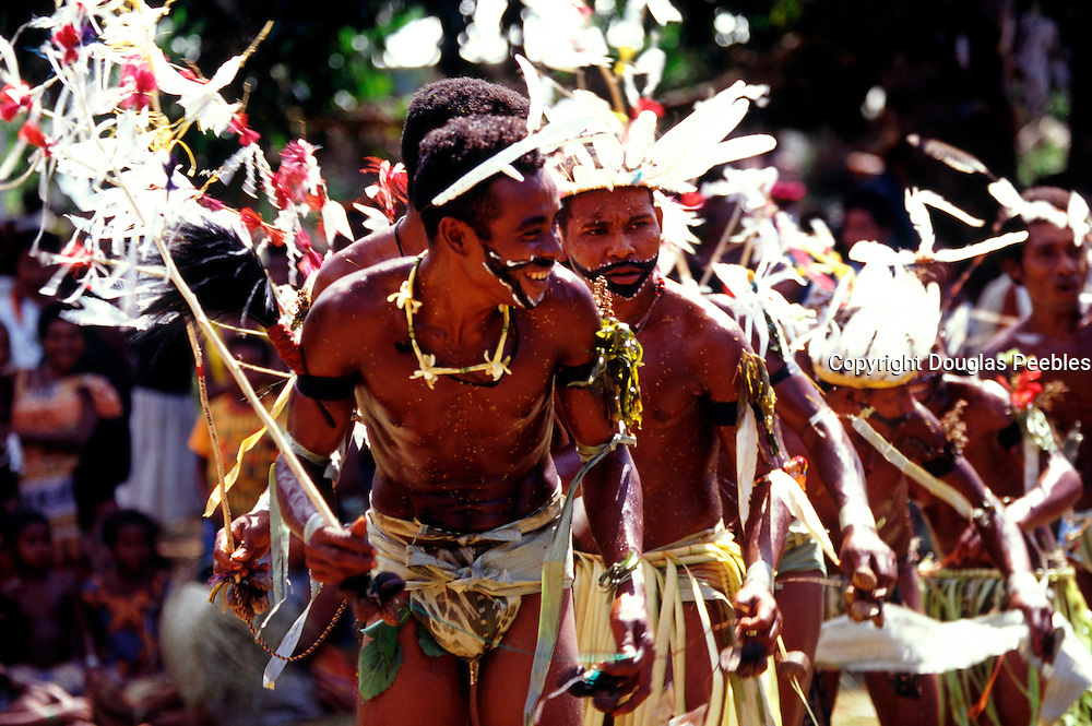 Men dancing, Kitava, Papua New Guinea, (Editorial use only, no model release)<br />