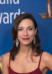 February 17, 2019 - Beverly Hills, California, U.S - Alexis Jacknow in the red carpet of the 2019 Writers Guild Awards at the Beverly Hilton Hotel on Sunday February 17, 2019 in Beverly Hills, California. ARIANA RUIZ/PI (Credit Image: © Prensa Internacional via ZUMA Wire)