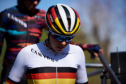 Lisa Klein (GER) at La Flèche Wallonne Femmes 2018, a 118.5 km road race starting and finishing in Huy on April 18, 2018. Photo by Sean Robinson/Velofocus.com