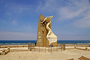 Israel, Acre Sea Wall promenade, modern sculpture, A memorial to fallen underground members who fought against the British Mandate pre 1948
