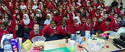 School children in an healthy eating class