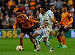 Jacob Murphy of Norwich City applies pressure on Helder Costa of Wolverhampton Wanderers - Mandatory by-line: Nizaam Jones/JMP - 01/10/2016/ - FOOTBALL - Molineux - Wolverhampton, England - Wolverhampton Wanderers v Norwich City - Sky Bet Championship