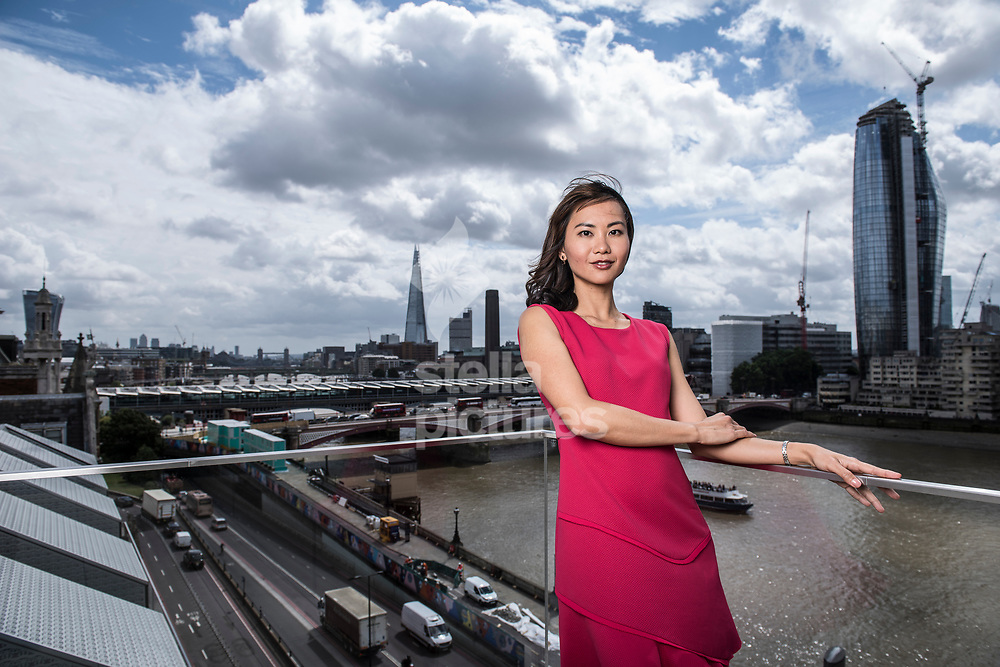 Author, academic, journalist, university lecturer, biologist, war historian and model, Felicia Yap pictured in central London.<br /> Yap's first novel, 'Yesterday' is due to be published in August.<br /> Picture by Daniel Hambury/Stella Pictures Ltd 07813022858<br /> 27/07/2017