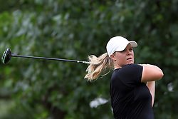 July 14, 2018 - Sylvania, Ohio, United States - Caroline Hedwall of Stockholm, Sweden hits from the 3rd tee during the third round of the Marathon LPGA Classic golf tournament at Highland Meadows Golf Club in Sylvania, Ohio USA, on Saturday, July 14, 2018. (Credit Image: © Amy Lemus/NurPhoto via ZUMA Press)