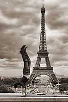 Balancing Act @ Le Trocadero with Tour Eiffel, Paris