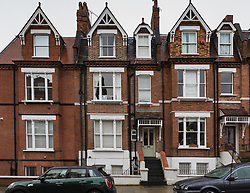 The building at 14 Willoughby Road, just off Hampstead High Street in North London where a flat measuring 8ft 4in X 8ft 2in has gone on the market. Hampstead, London, January 25 2019.