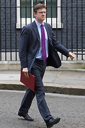 Downing Street, London, September 13th 2016. Secretary of State for Business, Energy and Industrial Strategy Greg Clark leaves the weekly cabinet meeting at Downing Street.
