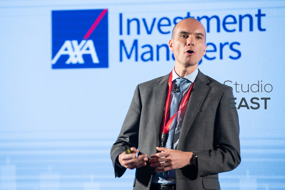 Presentation by Hector Chan, Co-Chief Investment Officer, AXA Investment Managers, during the 13th Asian Investment Summit at The Ritz-Carlton Hotel, in Hong Kong, China, on 30 May 2018. Photo by Lucas Schifres/Studio EAST