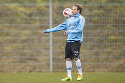 KLAGENFURT, AUSTRIA - Tuesday, March 4, 2014: Uruguay's Diego Forlan training at the Woerthersee Arena ahead of the international friendly against Austria. (Pic by JFK/EXPA/Propaganda)
