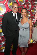"""September 18, 2012- Harlem, New York: (L-R) Greg Cunningham, Senior Group Manager, Strategic Partnerships & Lifestyles Marketing, Target and Rachel Noerdlinger, President & CEO, Noerdlinger Media attends Sylvia's Restaurant 50th Anniversary Golden Jubliee Gala celebrating the life and legacy of the late Sylvia Woods and held at Sylvia's Restaurant on September 18, 2012 in the Village of Harlem, USA. The 50th Anniversary Gala salutes Sylvia's as """"the world's kitchen"""" and celebrates a legend of the historic Harlem community. With an invite-only fundraising event for 500+ guests, the night kicked-off with a lavish cocktail hour and live performances from Sylvia's A-list guests, many of whom have made Sylvia's a home away from home for the past 5 decades.(Terrence Jennings)"""