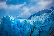 The Perito Moreno Glacier is a glacier located in the Los Glaciares National Park in southwest Santa Cruz province, Argentina. It is one of the most important tourist attractions in the Argentine Patagonia.<br /> <br /> The 250 km2 (97 sq mi) ice formation, and 30 km (19 mi) in length, is one of 48 glaciers fed by the Southern Patagonian Ice Field located in the Andes system shared with Chile. This icefield is the world's third largest reserve of fresh water.<br /> <br /> The Perito Moreno glacier, located 78 kilometres (48 mi) from El Calafate, was named after the explorer Francisco Moreno, a pioneer who studied the region in the 19th century and played a major role in defending the territory of Argentina in the conflict surrounding the international border dispute with Chile.