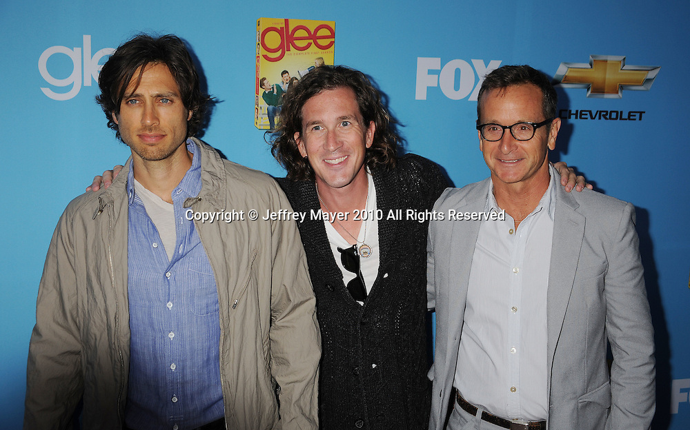 """HOLLYWOOD, CA. - September 07: Brad Falchuk, Ian Brennan and Dante Di Loreto attend the """"Glee"""" Season 2 Premiere Screening And DVD Release Party at Paramount Studios on September 7, 2010 in Hollywood, California."""