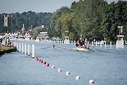 Henley Royal Regatta, Henley on Thames, Oxfordshire, 3-7 July 2013.  Friday  08:51:45   05/07/2013  [Mandatory Credit/Intersport Images]<br /> <br /> Rowing, Henley Reach, Henley Royal Regatta.<br /> <br /> The Double Sculls Challenge Cup<br /> J.R. Thomas & T. Barras (Cardiff University) v A.J. Groom & B.G. Stentiford (Durham University)