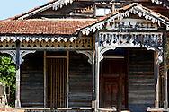Wood house in San Miguel de los Banos, Matanzas, Cuba.