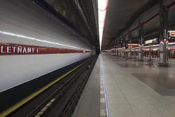 August 15, 2017 - Prague, Czech Republic - The Prague Metro is a metropolitan rail network of three lines, 54 stations and 59.3 kilometers. Construction began in 1967. August 15, 2017. Czech Republic  (Credit Image: © Oscar Gonzalez/NurPhoto via ZUMA Press)
