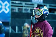 Nico Porteous during Ski Pipe Practice at 2014 X Games Aspen at Buttermilk Mountain in Aspen, CO. ©Brett Wilhelm/ESPN