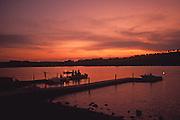 Fishing, Blue Marsh Lake, Berks County, Pennsylvania, Sunset