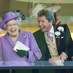 Mcc0047605.DT News.Royal Ascot Day 3.Pic Shows    HM The Queen after her horse Estimate won the Gold Cup