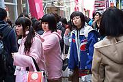 Young girls in Harajuku Kawaii (cute) style. Tokyo, Japan