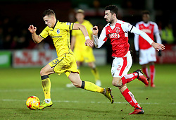 Billy Bodin of Bristol Rovers and Conor McLaughlin of Fleetwood Town - Mandatory by-line: Matt McNulty/JMP - 14/01/2017 - FOOTBALL - Highbury Stadium - Fleetwood, England - Fleetwood Town v Bristol Rovers - Sky Bet League One
