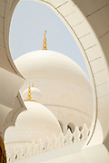 Roof detail of the Sheikh Zayed Mosque, the largest mosque in United Arab Emirates, constructed between 1996 and 2007, Abu Dhabi, United Arab Emirates