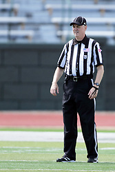 19 September 2015:  Back Judge Paul Cloutier during an NCAA division 3 football game between the Simpson College Storm and the Illinois Wesleyan Titans in Tucci Stadium on Wilder Field, Bloomington IL