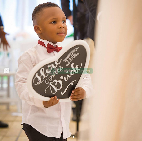 July 17, 2017 - Brussels, BELGIUM - ATTENTION EDITORS - HAND OUT PICTURES - EDITORIAL USE ONLY ....Hand out pictures released on Monday 17 July 2017, by Christian Benteke through his Instagram account, shows Jaden, the son of Christian Benteke and his wife Fortune on their wedding day, 08 July 2017...BELGA PHOTO HAND OUT (Credit Image: © Hand Out/Belga via ZUMA Press)