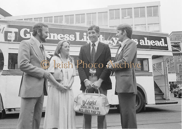 Dublin GAA Football Final team visit Guinness. 7.9.1979.  7th September 1979