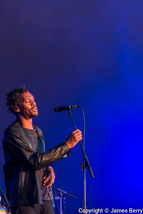 """Massive Attack headline the opening night of British Summer Time 2016 in Hyde Park, London, on Friday 1 July 2016. Picture shows Grant """"Daddy G"""" Marshall."""
