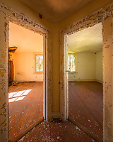 A pair of doors in an old abandoned house on Sapelo Island GA.