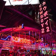 Go-go girls of the Soi Cowboy nightclub in Bangkok night life district