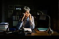 Oslo, Norge, 12.05.2019. Siri Hustvedt er en norskættet forfatter fra USA, som siden 2000-tallet har markert seg internasjonalt som roman-, novelle-forfatter, poet og essayist. Foto: Christopher Olssøn.