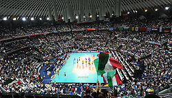 09-10-2010 VOLLEYBAL: FIVB 2010 WORLD CHAMPIONSHIP: ITALIA - BRAZIL: ROME<br /> Panoramica del Palalottomatica esaurita Semifinals<br /> ©2010- EXPA/ InsideFoto/ Andrea Staccioli +++++ ATTENTION - FOR NETHERLANDS CLIENT ONLY +++++ / / WWW.FOTOHOOGENDOORN.NL<br /> PHOTO AGENCY