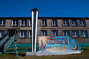 "Mural and sculpture of coal miners at Barentsburg, a Russian coal mining town in the Norwegian Archipelego of Svalbard. Once home to about 2000 miners and their families, less than 500 people now live here. This mage can be licensed via Millennium Images. Contact me for more details, or email mail@milim.com For prints, contact me, or click ""add to cart"" to some standard print options."