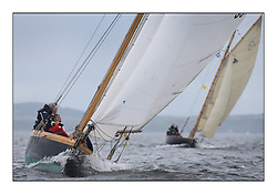 Day one of the Fife Regatta, Round Cumbraes Race.<br /> Ayrshire Lass, Paul Goss / Theo Rye, GBR, Gaff Cutter, Wm Fife 2nd, 1887<br /> <br /> * The William Fife designed Yachts return to the birthplace of these historic yachts, the Scotland's pre-eminent yacht designer and builder for the 4th Fife Regatta on the Clyde 28th June–5th July 2013<br /> <br /> More information is available on the website: www.fiferegatta.com