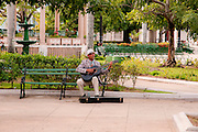 Cienfuegos, Cuba. busker in the central square