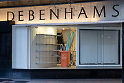 Fittings and stock, the assets of high-street chain Debenhams are being removed from the shop floor after the brand was liquidated and then purchased by online fashion retailer Boohoo, buying the Debenhams brand and website for £55, on 5th February 2021, in London, England. However, Boohoo will not take on any of the firms remaining 118 High Street stores or its workforce.