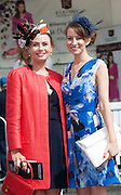 30/07/2015 report free : Winners Announced in Kilkenny Best Dressed Lady, Kilkenny Best Irish Design & Kilkenny Best Hat Competition at Galway Races Ladies Day <br /> At the event was Orla Burke, Sligo and Francesca Stadden, Manchester.<br /> Photo:Andrew Downes, xposure