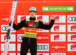 Second placed Ryoyu Kobayashi (JPN) celebrates at trophy ceremony after the Ski Flying Hill Individual Competition at Day 2 of FIS Ski Jumping World Cup Final 2019, on March 22, 2019 in Planica, Slovenia. Photo by Vid Ponikvar / Sportida