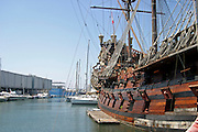 Italy, Genoa, the city harbour