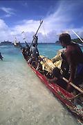Papua New Guinea, Kitava Island, The Trobriands, Canoe<br />