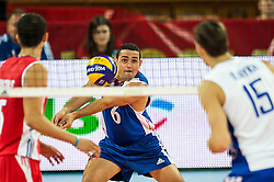 11.09.2014, Centennial Hall, Breslau, POL, FIVB WM, Kuba vs Russland, Gruppe F, im Bild Keibel Gutierrez Torna cuba #6 // Keibel Gutierrez Torna cuba #6 during the FIVB Volleyball Men's World Championships 2nd Round Pool F Match beween Cuba and Russia at the Centennial Hall in Breslau, Poland on 2014/09/11. EXPA Pictures © 2014, PhotoCredit: EXPA/ Newspix/ Sebastian Borowski<br /> <br /> *****ATTENTION - for AUT, SLO, CRO, SRB, BIH, MAZ, TUR, SUI, SWE only*****