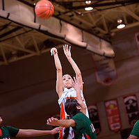 120513       Cable Hoover<br /> <br /> Gallup Bengal Rebecca Herrera (25) shoots over the Wingate Bears for three points during the first round of the John Lomasney Girls Basketball Tournament at Gallup High School Thursday.
