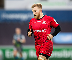 Jackson Wray of Saracens<br /> <br /> Photographer Simon King/Replay Images<br /> <br /> European Rugby Champions Cup Round 5 - Ospreys v Saracens - Saturday 11th January 2020 - Liberty Stadium - Swansea<br /> <br /> World Copyright © Replay Images . All rights reserved. info@replayimages.co.uk - http://replayimages.co.uk