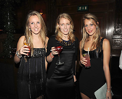 Left to right, LUCINDA APTHORP, OLIVIA FALCON and LADY ISABELLA HILL at the Tatler Magazine Little Black Book party at Tramp, 40 Jermyn Street, London SW1 on 5th November 2008.
