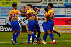 Mansfield Town players celebrate the second goal against Derby County - Mandatory by-line: Ryan Crockett/JMP - 18/07/2018 - FOOTBALL - One Call Stadium - Mansfield, England - Mansfield Town v Derby County - Pre-season friendly