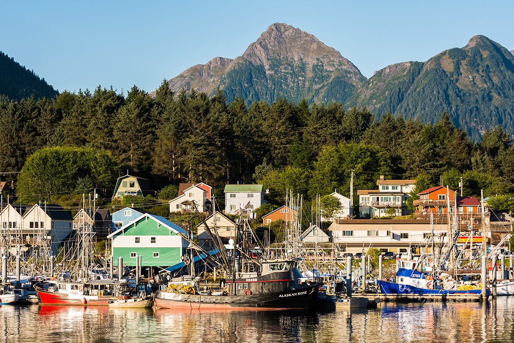 The cute small town of Sitka, Alaska, USA
