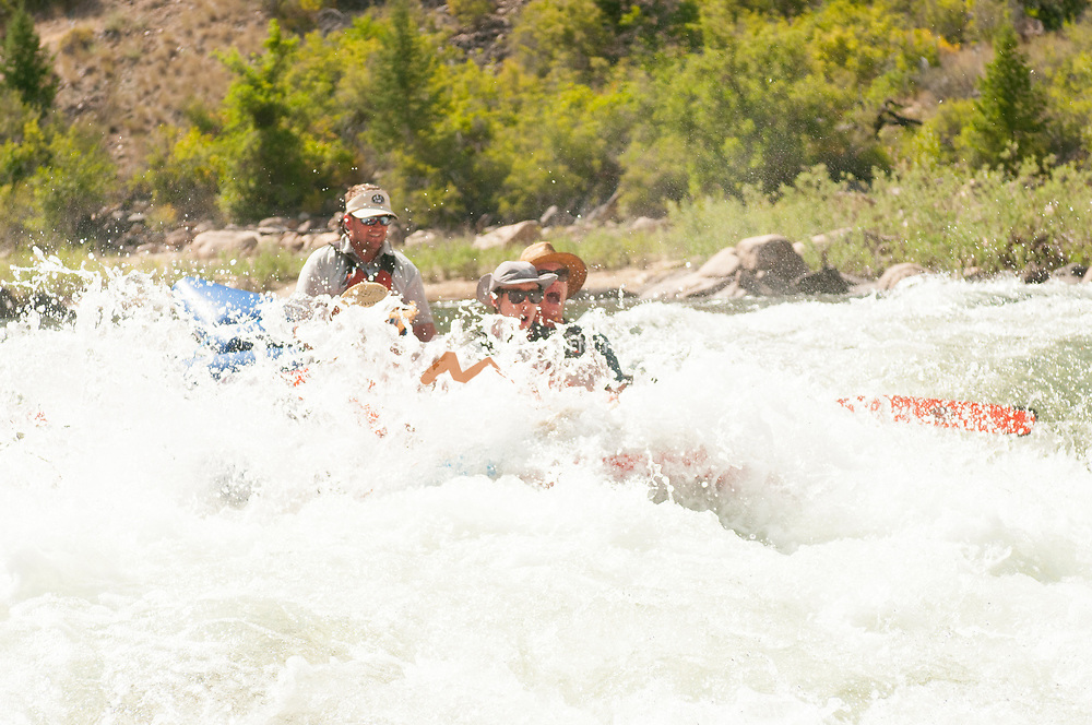 People disapear while Rafting Tappan Falls on the Middle Fork of the Salmon River, Idaho.